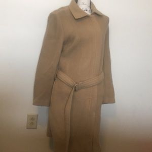 J. Crew Tan Wool Trench Jacket Size Large